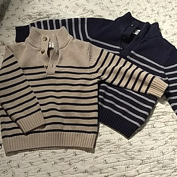 Children's Place Other - Children's place, two little sweaters.Blue and tan